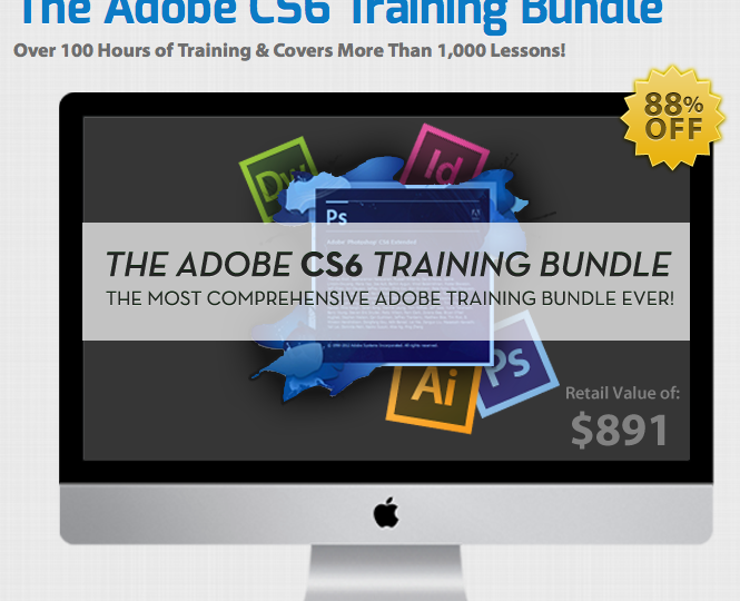 Hier ist der Screenshot vom Adobe CS6 Training Bundle