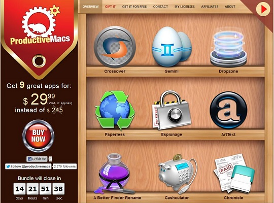 here is the screenshot of the ProductiveMacs Bundle June 2013