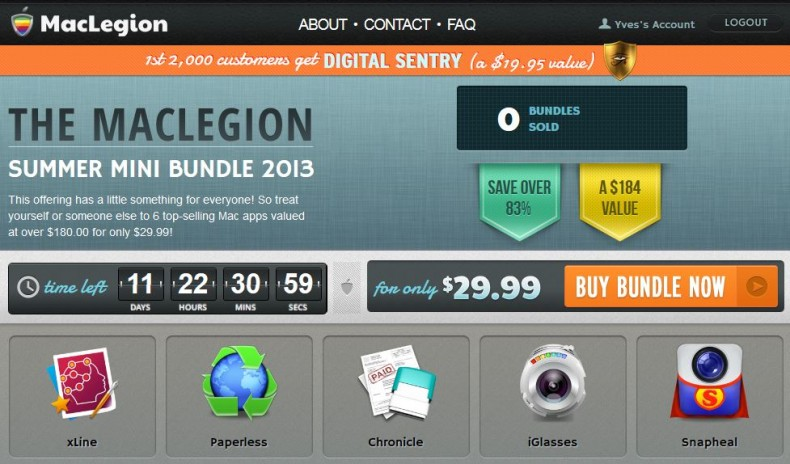 here is the Screenshot of the MacLegion Summer Mini Bundle