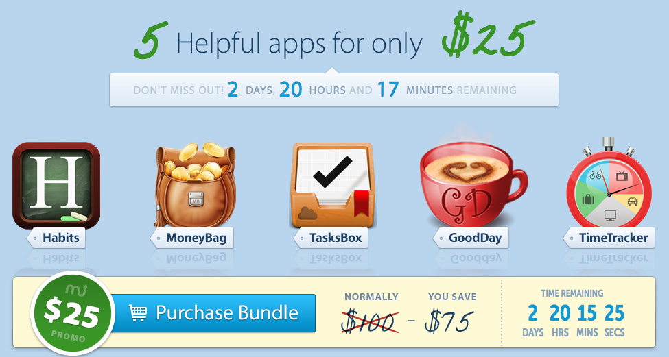 here is the Screenshot of the MacUpdate Bundle August