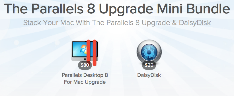 here is the Screenshot of the Parallels 8 Upgrade Mini Bundle