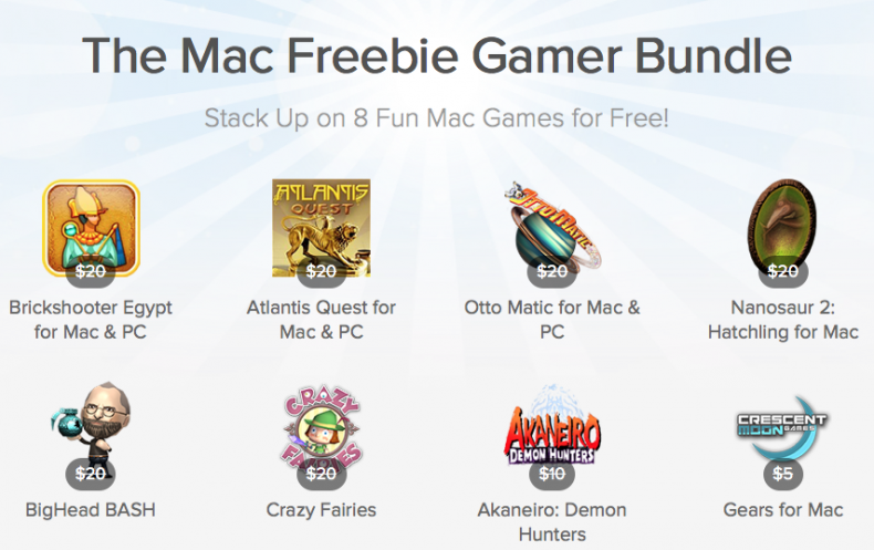 here is the Screenshot of the Mac Freebie Gamer Bundle
