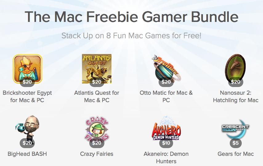 here is the Screenshot of the Mac Freebie Gamer Bundle