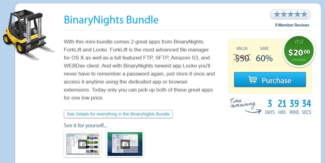 Screenshot BinaryNights Bundle