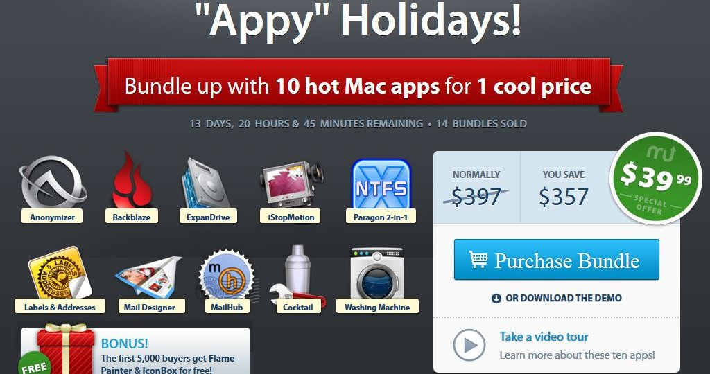 Screenshot MacUpdate Appy Holidays Bundle