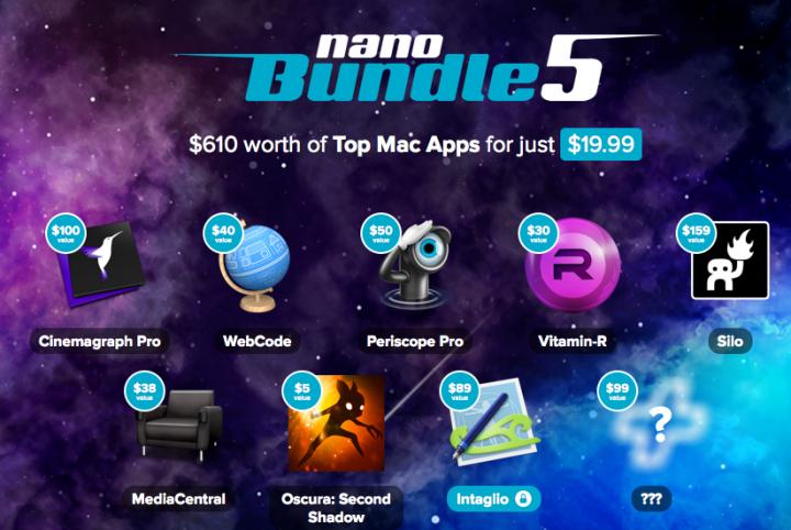 MacHeist nanoBundle 5 with up to 9 apps