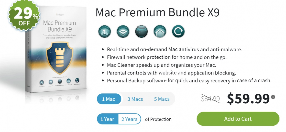 Photo Screenshot Intego Mac Premium Bundle X9