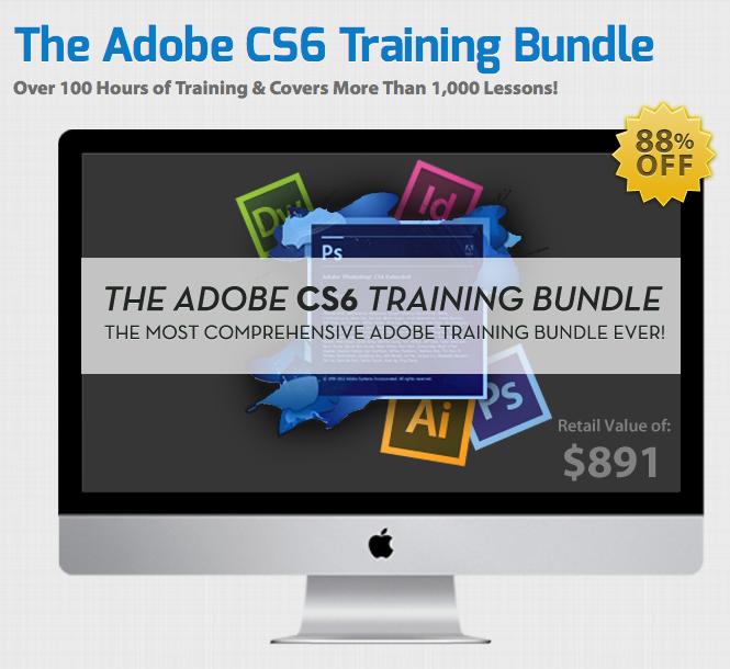 Hier ist der Screenshot vom Adobe CS6 Training Bundle