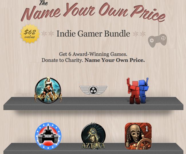 Hier ist der Screnschot zum Name Your Own Price Indie Game Bundle zu sehen