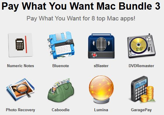 here is the Screenshot of the PWYW Mac Bundle 3.0