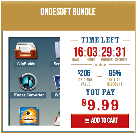 here is the Screenshot of the Ondesoft Bundle