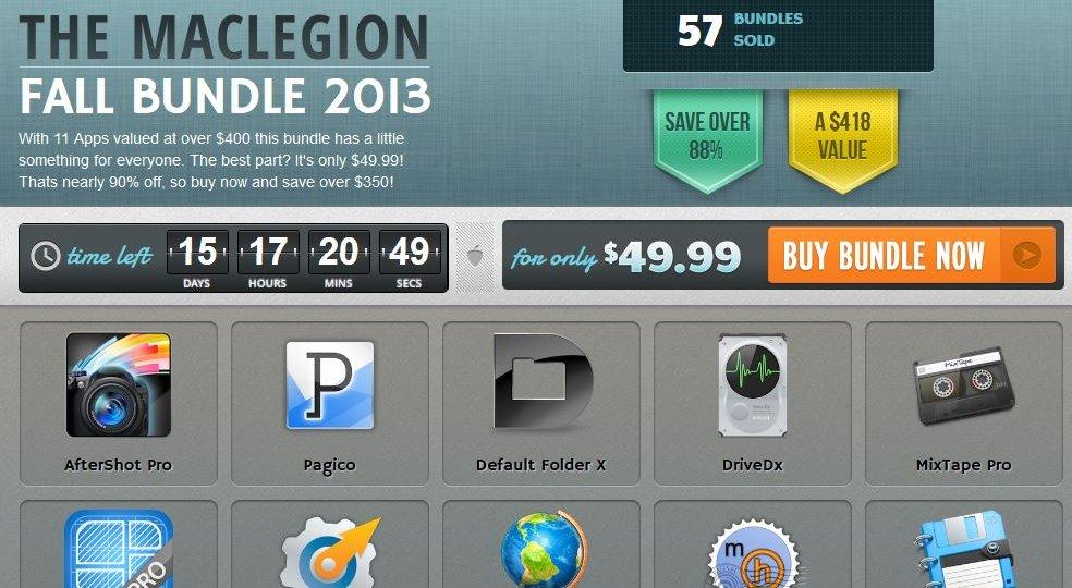 here is the Screenshot of the MacLegion Fall Bundle