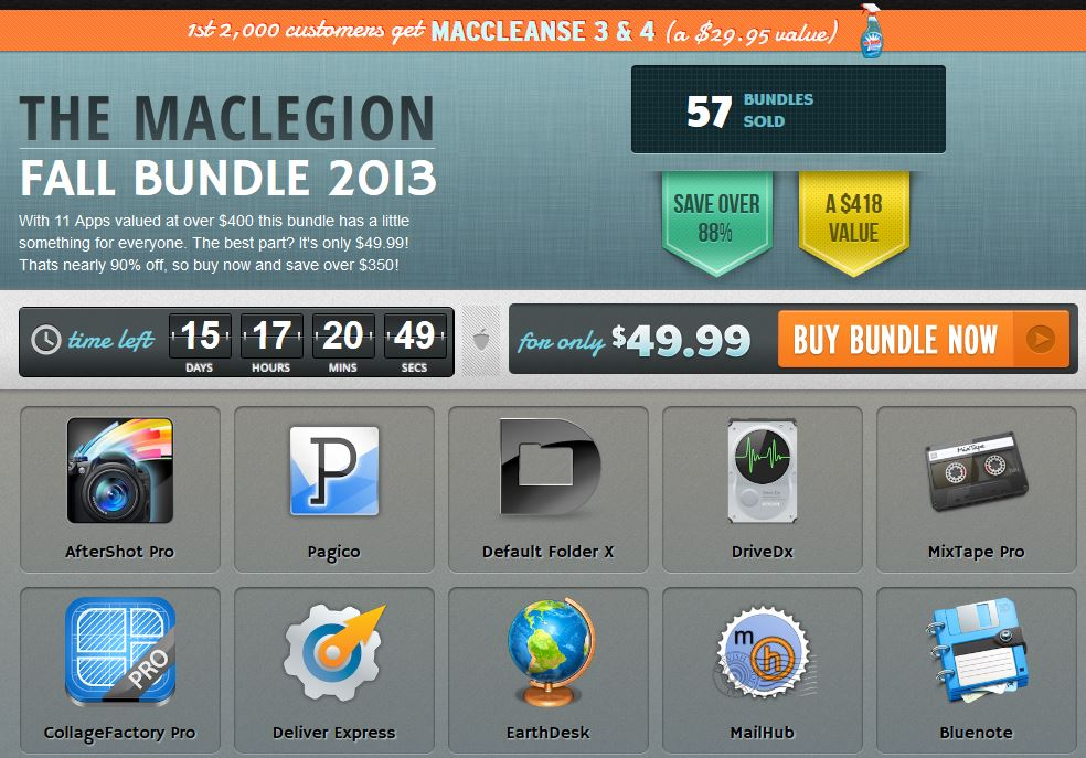 here is the Screenshot of the MacLegion Fall Bundle