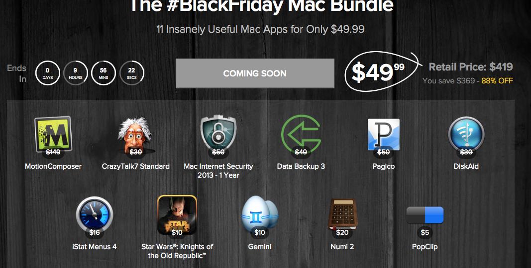 Screenshot Blackfriday Mac Bundle