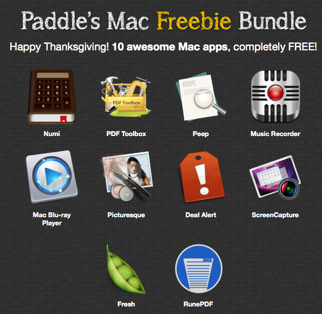 Screenshot Paddle Mac Freebie Bundle