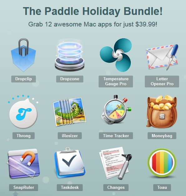 Screenshot Paddle Holiday Bundle