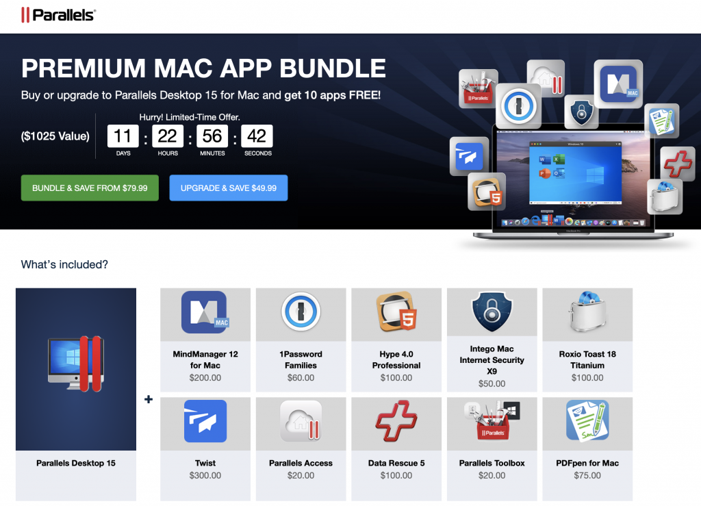 Photo of the Screenshot from Premium Mac App Bundle with Parallels